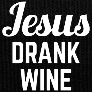 Jesus Drank Wine Funny Quote Sportswear - Knit Cap with Cuff Print