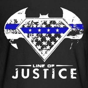Line of Justice shirt - Men's Long Sleeve T-Shirt