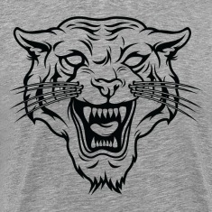 Angry tiger silhouette head T-Shirts