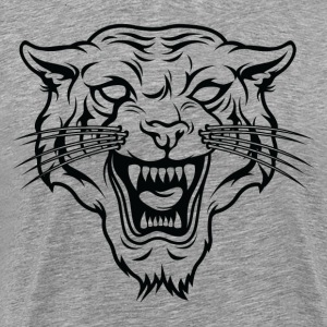 Angry tiger silhouette head T-Shirts - Men's Premium T-Shirt