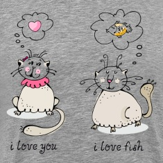 Love you, love face funny cat graphic T-Shirts