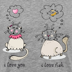 Love you, love face funny cat graphic T-Shirts - Men's Premium T-Shirt