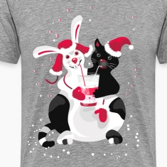 Christmas cartoon cat clip art T-Shirts