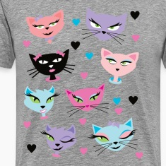 Cute cartoon cats card T-Shirts