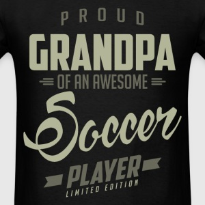 Proud Grandpa Soccer Player. - Men's T-Shirt