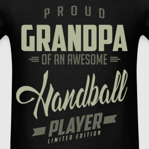 Proud Grandpa Handball Player. - Men's T-Shirt