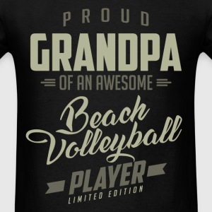 Proud Grandpa Beach Volleyball Player - Men's T-Shirt