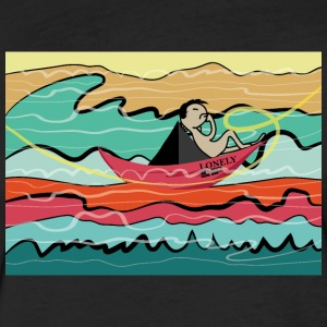 Lonely Ship - Fitted Cotton/Poly T-Shirt by Next Level