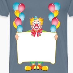 Clown with poster