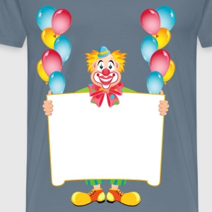 Clown with poster - Men's Premium T-Shirt