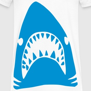 Blue Shark T-Shirts - Men's V-Neck T-Shirt by Canvas