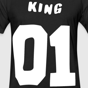 King 01 T-Shirts - Fitted Cotton/Poly T-Shirt by Next Level