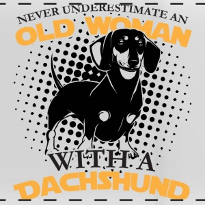 Never underestimate an Old woman with a Dachshund. - Panoramic Mug