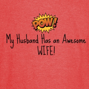 AWESOME WIFE  T-Shirts - Vintage Sport T-Shirt