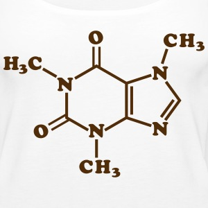 Caffeine Molecular Chemical Formula Tanks - Women's Premium Tank Top