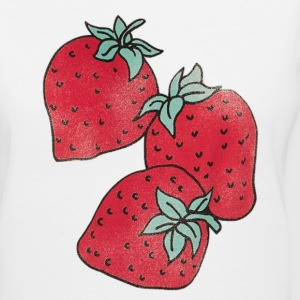 Strawberries Women's T-Shirts - Women's V-Neck T-Shirt