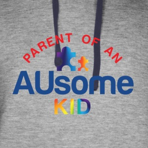 Parent of an AUsome Kid - Colorblock Hoodie