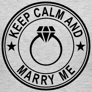 Keep Calm And Marry Me Long Sleeve Shirts - Women's Long Sleeve Jersey T-Shirt