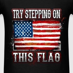Flag - Step On - Men's T-Shirt