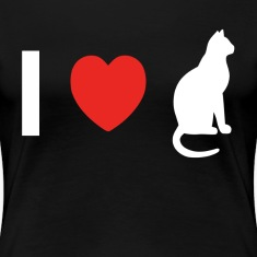 I Love Pussy Cat Animal Lovers Women's T-Shirts