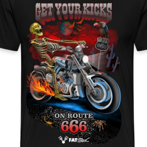GET YOUR KICKS ON ROUTE 666 - Men's Premium T-Shirt