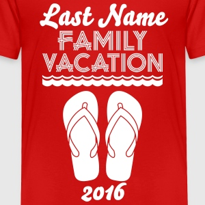 Family Vacation Flip Flop Baby & Toddler Shirts - Toddler Premium T-Shirt