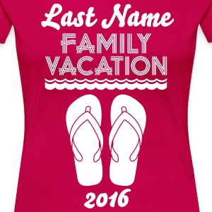 Family Vacation Flip Flop Women's T-Shirts - Women's Premium T-Shirt