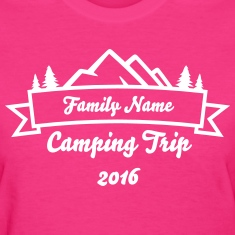 Family Camping Trip Banner Women's T-Shirts