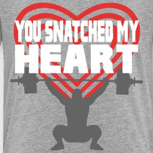 You Snatched My Heart Male Lifter Kids' Shirts - Kids' Premium T-Shirt
