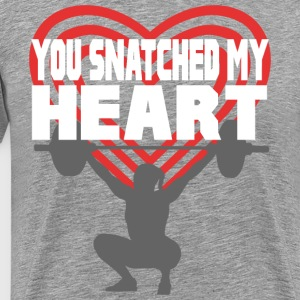 You Snatched My Heart Female Lifter T-Shirts - Men's Premium T-Shirt