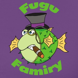 The Fugu Network Fugu Famiry Small Logo Men's Pr - Men's Premium T-Shirt
