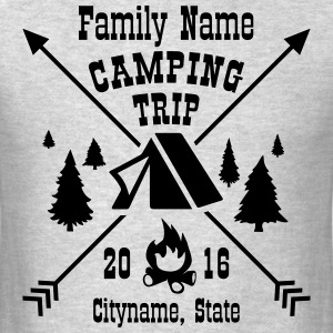 Custom Text Camping Trip Shirts T-Shirts - Men's T-Shirt