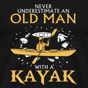 Old Man With A Kayak - Men's Premium T-Shirt