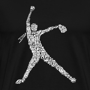Pitcher Word Art - Men's Premium T-Shirt