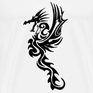 Stealth of a Dragon  png T-Shirts - Men's Premium T-Shirt