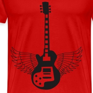 Guitar Prowess at the Crossroads -png T-Shirts - Men's Premium T-Shirt