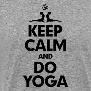 Keep Calm and Do Yoga T-Shirts - Men's Premium T-Shirt