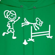 Agility Dog and Handler Stick Figures