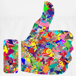 Colorful Thumbs UP .png T-Shirts - Men's Premium T-Shirt