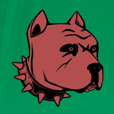 Brown Pit Bull Design T-shirt