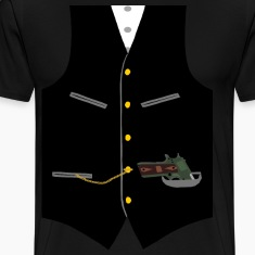 Gangster Vest with Gun