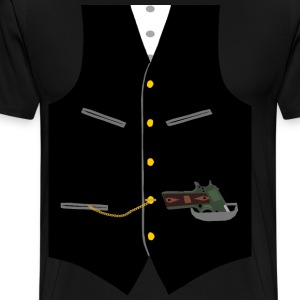 Gangster Vest with Gun - Men's Premium T-Shirt