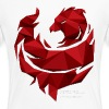 Red Poly Phoenix - Womens - Women's Premium T-Shirt