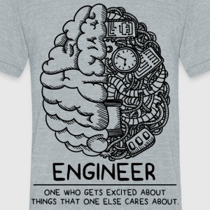 Engineer - Unisex Tri-Blend T-Shirt by American Apparel