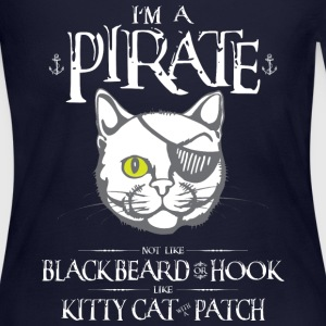 Funny Kitty Cat With Patch Pirate - Women's Long Sleeve Jersey T-Shirt