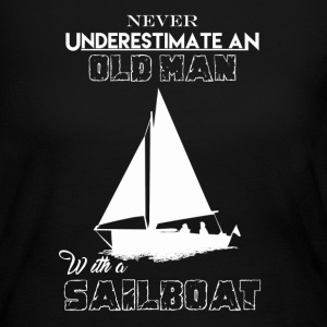 Old Man With Sailboat - Women's Long Sleeve Jersey T-Shirt