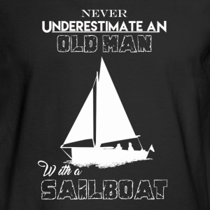 Old Man With Sailboat - Men's Long Sleeve T-Shirt