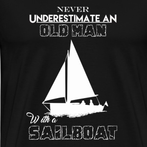 Old Man With Sailboat - Men's Premium T-Shirt