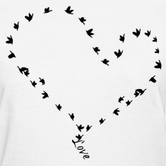 love in flight tee.png Women's T-Shirts