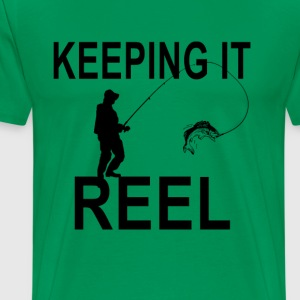 keeping_it_reel_fishing_tshirt_ - Men's Premium T-Shirt
